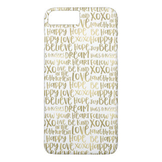 Gold Inspirational Words iPhone 8 Plus/7 Plus Case