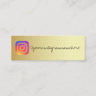 gold instagram trendy social media business card