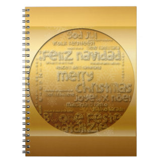 Gold International Christmas Navidad Notebook