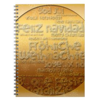 Gold International Weihnachten Navidad Notepad Notebook