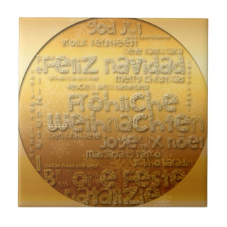 Gold International Weihnachten Navidad Tile