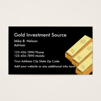 Gold Investing Commodities Business Card