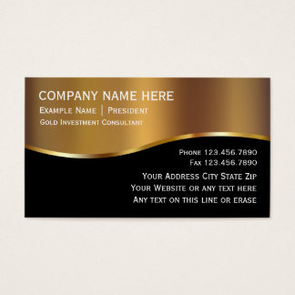 Gold Investment Business Cards