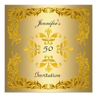 Gold Invitation Birthday Elegant Gold
