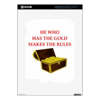 GOLD iPad 3 SKIN