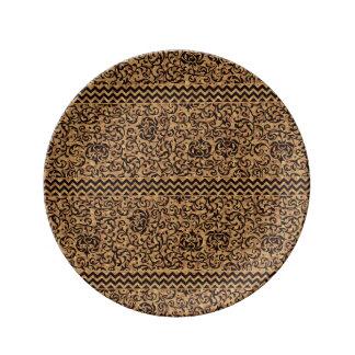 Gold Italian Renaissance Floral Porcelain Plate