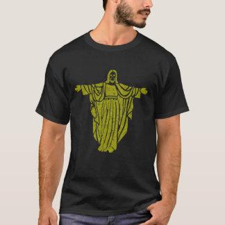 Gold Jesus Airbrush Art Tee