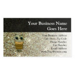 Gold Jewel Owl Double-Sided Standard Business Cards (Pack Of 100)