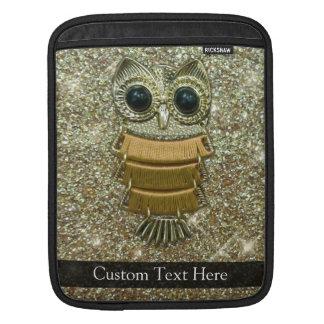 Gold Jewel Owl iPad Sleeve