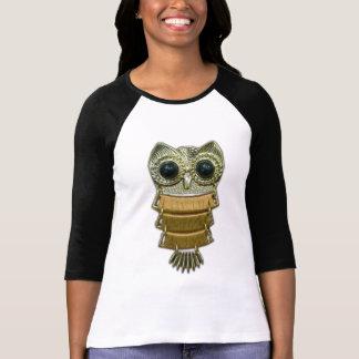 Gold Jewel Owl T Shirt