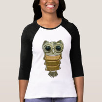 Gold Jewel Owl T-Shirt