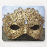 Gold jewel venice mask mousepads