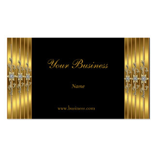 Gold Jewelled Black Elegant Classy Business Card
