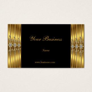 Gold Jewelled Black Elegant Classy Business Card