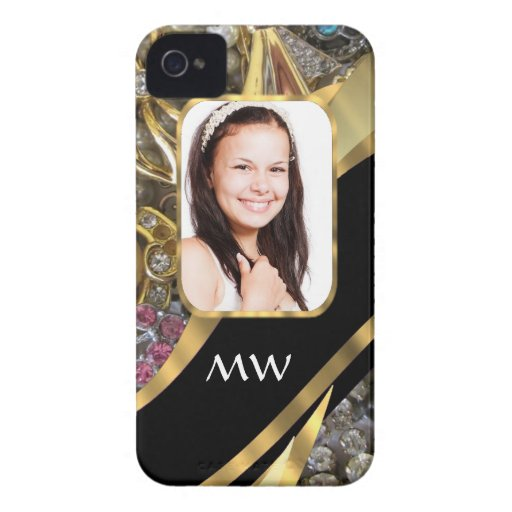 Gold jewelry photo background iPhone 4 Case-Mate cases