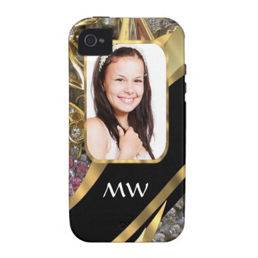 Gold jewelry photo background vibe iPhone 4 covers