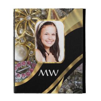 Gold jewelry photo background iPad folio covers
