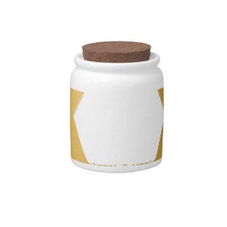 Gold Jewish Star of David Brushstroke Texture Icon Candy Jar