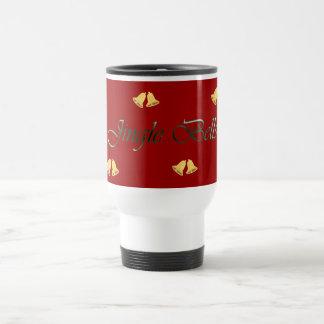 Gold Jingle Bells Christmas Travel Mug