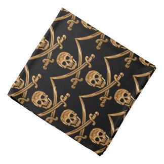 Gold Jolly Roger Bandana