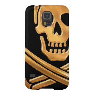 Gold Jolly Roger Cases For Galaxy S5