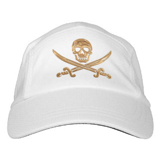 Gold Jolly Roger Hat