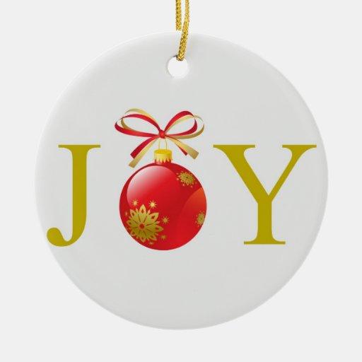 Gold joy christmas ornament zazzle