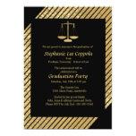 Gold Justice Scale Invitation