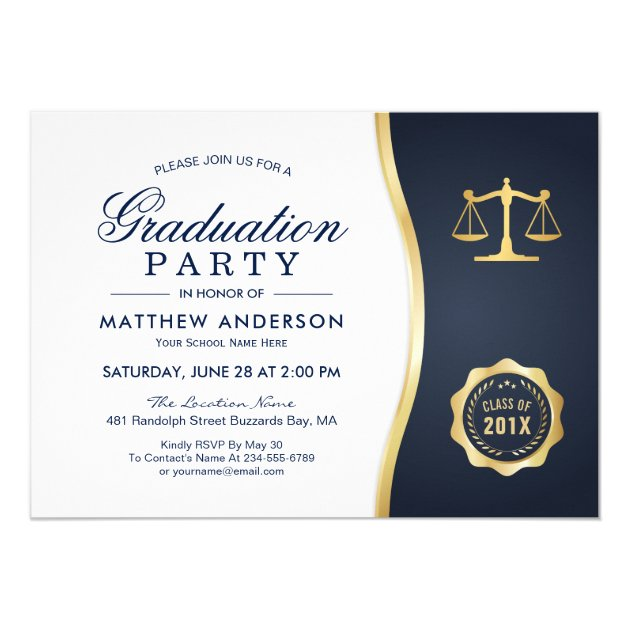 Law School Graduation Invitations