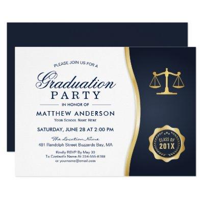 Law School Graduation Party Invitation Lawyer Zazzlecom