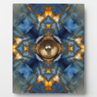 Gold kaleidoscope music speaker plaque