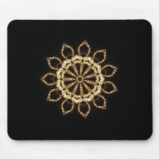 Gold Kaleidoscope Star Mouse Pad