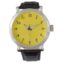 Gold Key and Iron Black Wristwatch