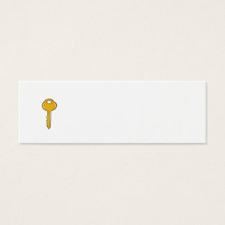 Gold Key Cartoon Mini Business Card