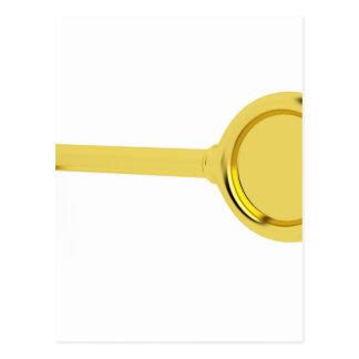 Gold key in keyhole postcard