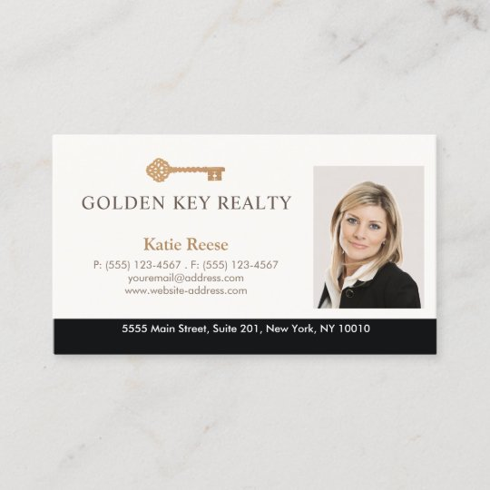 Gold key real estate agent photo business card zazzle gold key real estate agent photo business card colourmoves