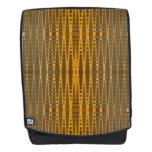 Gold Khaki Pattern Backpack