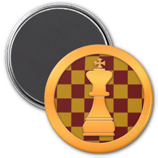 Gold King Chess Piece Refrigerator Magnets