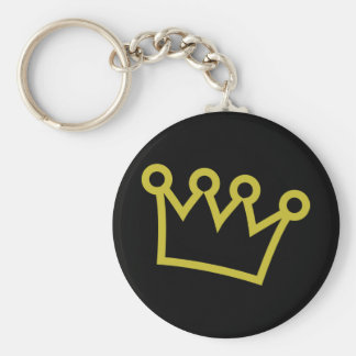 gold king crown deluxe key chain