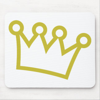 gold king crown deluxe mouse pads