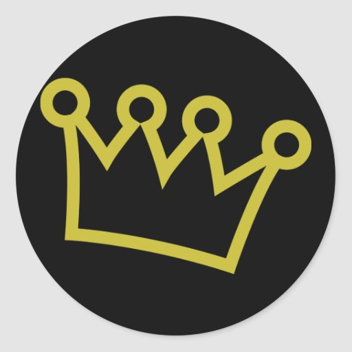 gold king crown deluxe sticker