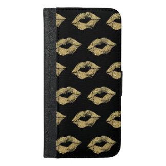 Gold Kisses iPhone 6/6s Plus Wallet Case