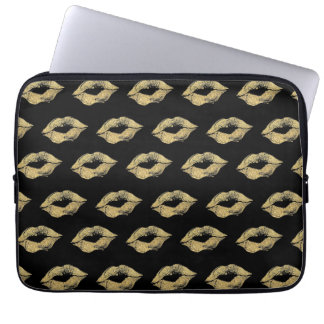 Gold Kisses Laptop Sleeve