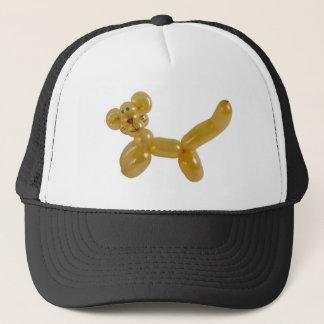 gold kitty balloon trucker hat