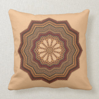 Gold Knit-Like Throw Pillow