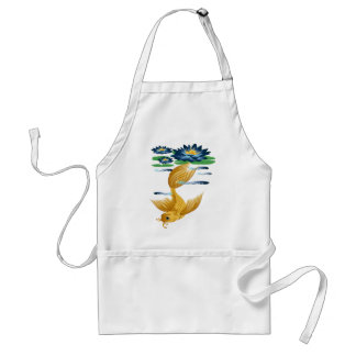 Gold Koi and Deep Blue Lilies Aprons