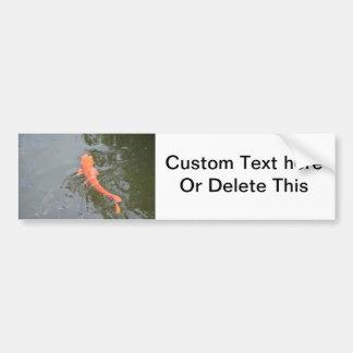 gold koi in pond with cichlids fish image picture bumper sticker