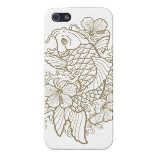Gold Koi tattoo iPhone SE/5/5s Case