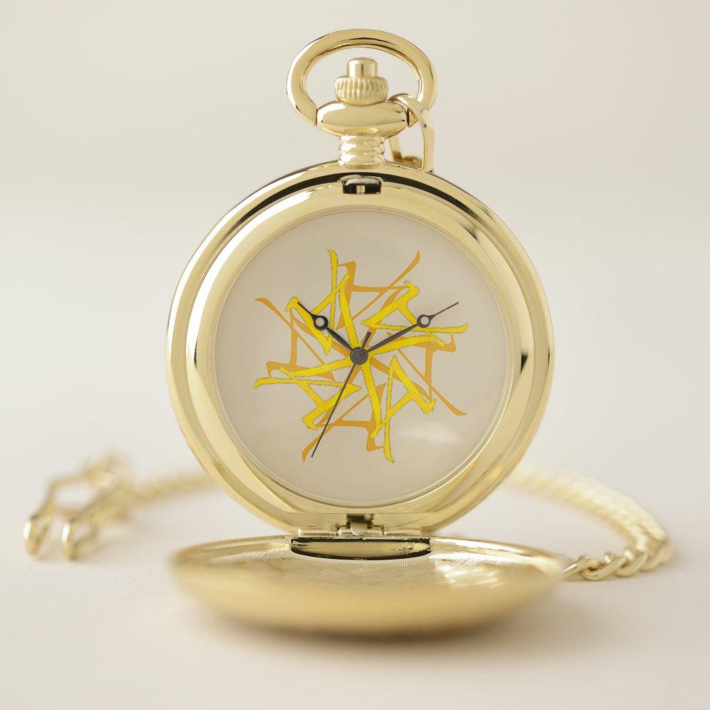 Gold LA Tantra Pocket Watch