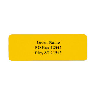 Gold Custom Return Address Label